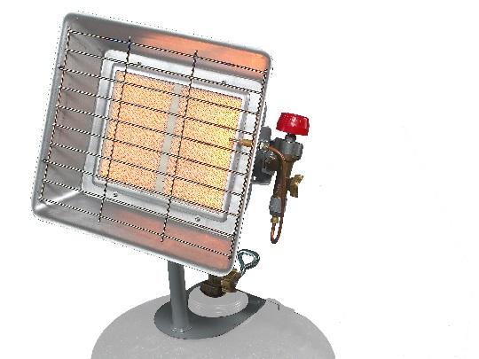 Brasero radian infrarouge eno chauffage for Chauffage pour serre de jardin